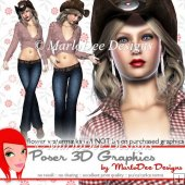 Western Cowgirl Poser Graphics Set 1