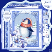 PENGUIN Christmas 7.8 Quick Layer or Decoupage Card Kit