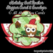 Holiday Owl Rocker Stepper Card & Envelope
