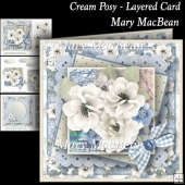 Cream Posy Layered Card