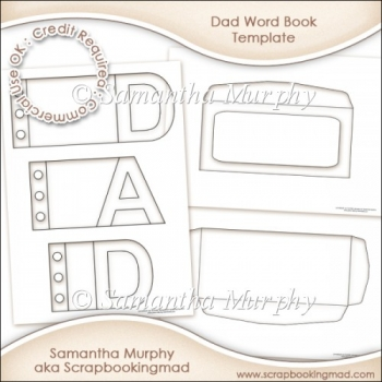 Dad Word Book Template Commercial Use