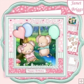 LOVE IS IN THE AIR 8x8 Decoupage & Insert All Occasions Kit