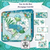 You Are The Best Rounded Corner Decoupage Card Kit