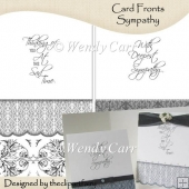Ready to Print Card Fronts - Sympathy(Retiring in July)