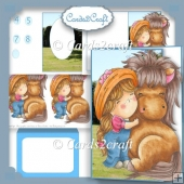 Little Izzy shaped pony card