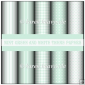 Mint Green And White Theme Papers