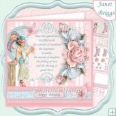 ART DECO LADY & VERSE 8x8 Decoupage & Insert Kit