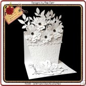 800 White Flower Pot Easel *MACHINE Formats*