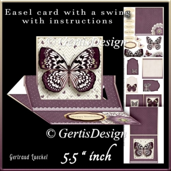 Easel Card With A Swing plump