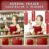 Barmaid Dudess (brown Hair) with Insert Kit