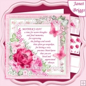 MOTHER'S DAY VERSE Pink Floral 7.5 Decoupage & Insert Kit