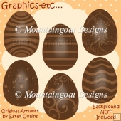 Milk Chocolate Easter Eggs Clipart Collection