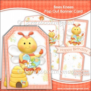Bees Knees Pop Out Banner Card