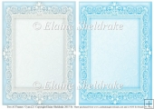 2 x A5 Cyan (2) Lace Frames for Card Making & Scrapbooking