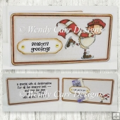 RTP FIGURE EIGHT MONEY GIFT CARD CARD SASSY CHRISTMAS