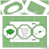 Green Graduation Octagon Card