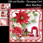 Gifts and Baubles - Decoupage Card