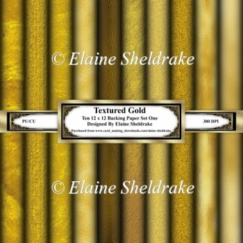 Textured Gold - Ten 12 x 12 Papers - Set One