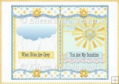 You Are My Sunshine Card Insert