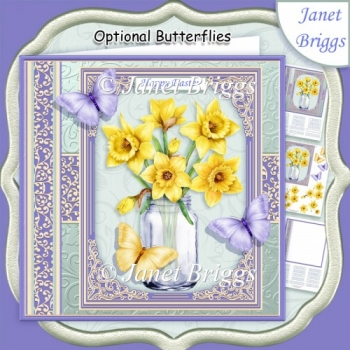 JAR OF DAFFODILS 7.5 Decoupage & Insert Kit All Occasions