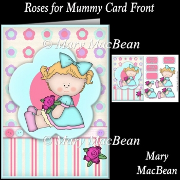 Roses for Mummy Card Front