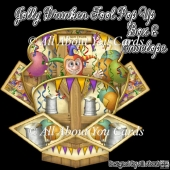 Jolly Drunken Fool Pop Up Box Card & Envelope