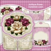 Antique Roses Gatefold Card