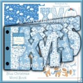Blue Christmas Word Book