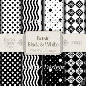 Basic Black and White Paper Pack