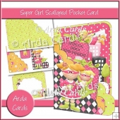 Super Girl Scalloped Pocket Card