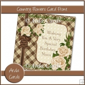 Country Flowers Card Front