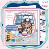 BAKING FOREVER HOUSEWORK WHENEVER Humorous 7.5 Decoupage Kit