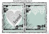 Beautiful Friendship Card Insert