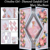 Crinoline Girl - Diamond Gatefold Card