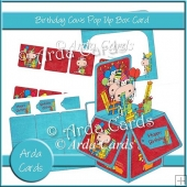 Birthday Cows Pop Up Box Card