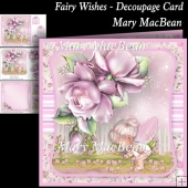 Fairy Wishes - Decoupage Card