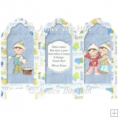 Scalloped Top Screen Tri fold Card - Kids at Play
