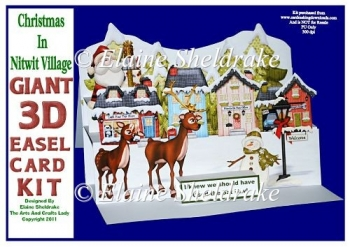 Christmas In Nitwit Village - Pop Up Easel Card Kit