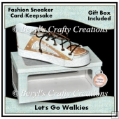 Walkies - Fashion Sneaker Card/Keepsake