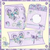 Floral Heart Card Kit & Pillow Box