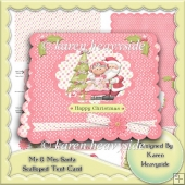 Mr And Mrs Santa Scalloped Tent Card