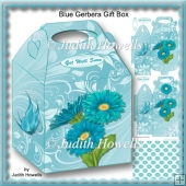 Blue Gerbera Gift Box