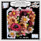 Delicious Dahlias - Concertina Card Kit + Tags & Envelope