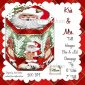 Kris and Mrs. Santa Christmas Hexagon Gift Box and Tag