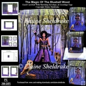 The Magic Of Bluebell Wood Pagan 3D Pop Out Concertina Box Card