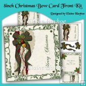 8inch Christmas Bow Card Front Kit