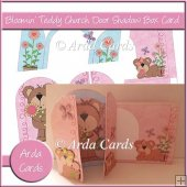 Bloomin' Teddy Church Door Shadow Box Card