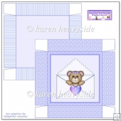 Lilac Bear In Letter 5x5 Box(Retiring in October)