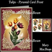 Tulips - Pyramid Card Front