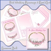 Pink Wedding Day Pyramage 2 Easel Card